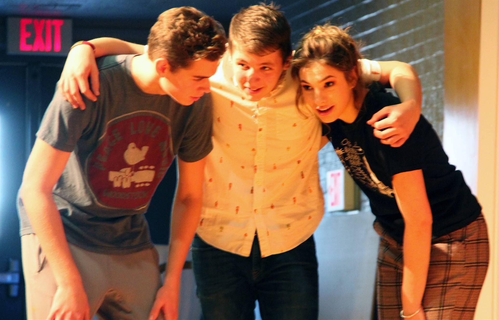 three cast members