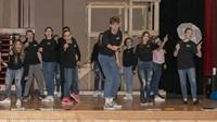 hello dolly cast members rehearsing