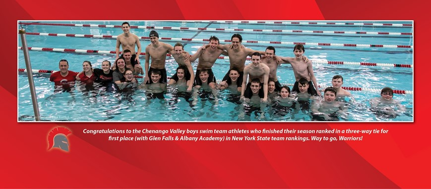 congratulations to boys swim team on tying for first place in new york state rankings