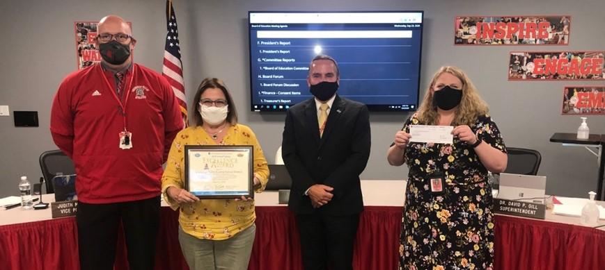 Chenango Valley Representatives with Safety Award