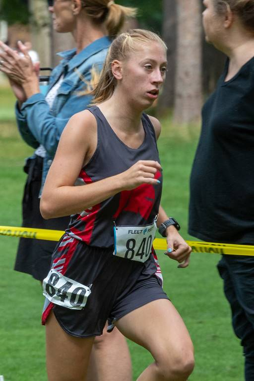 student running for cross country