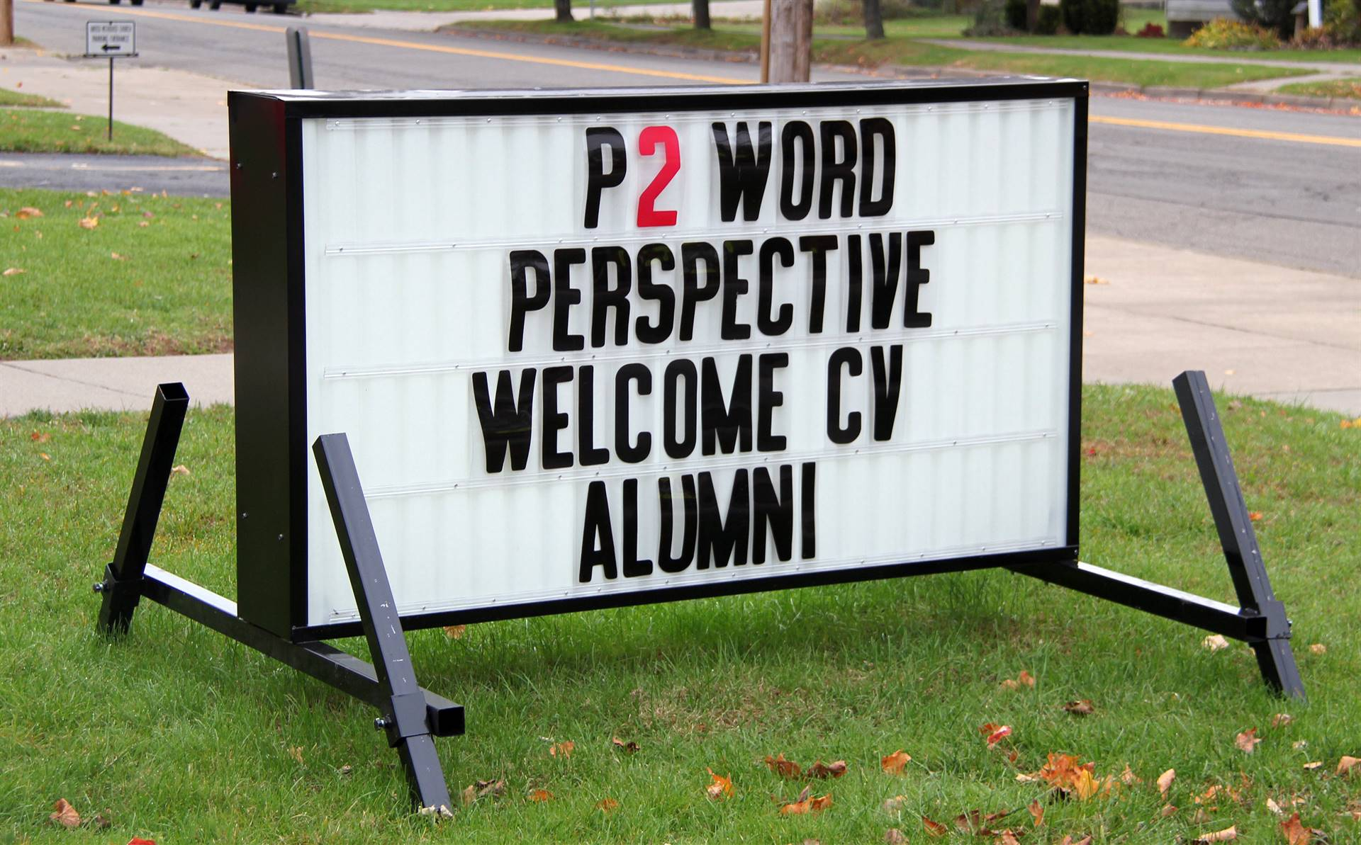 welcome alumni marquee