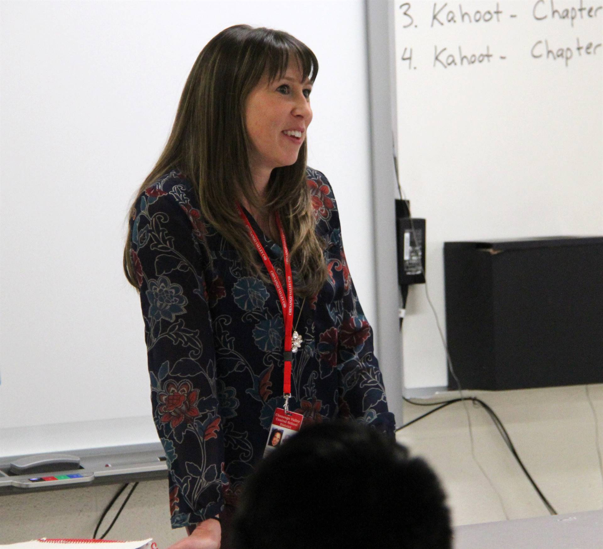 honoree in classroom
