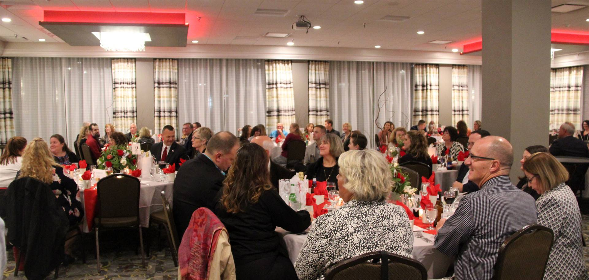 people at recognition dinner
