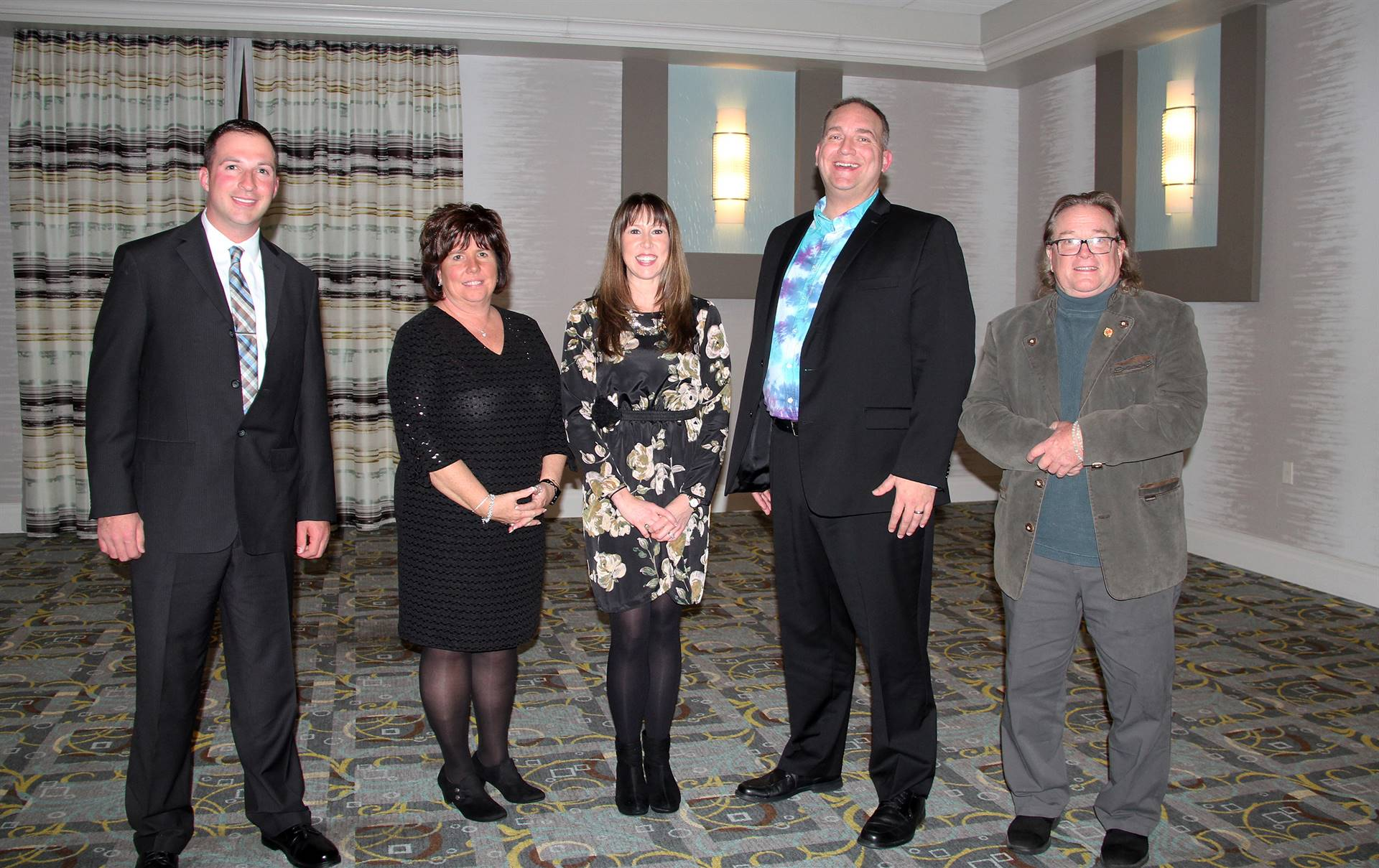 honorees at recognition dinner