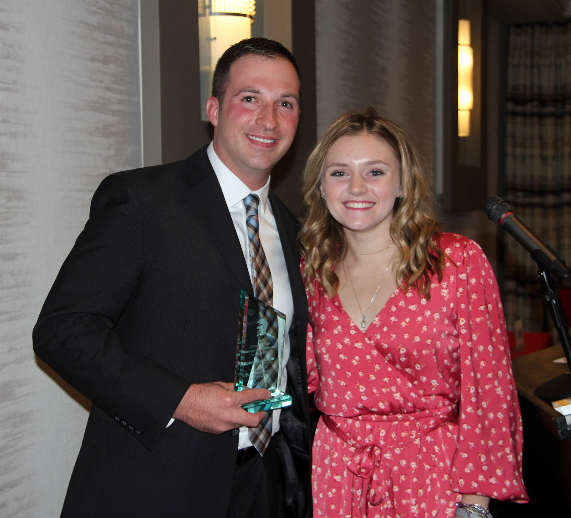honoree and student