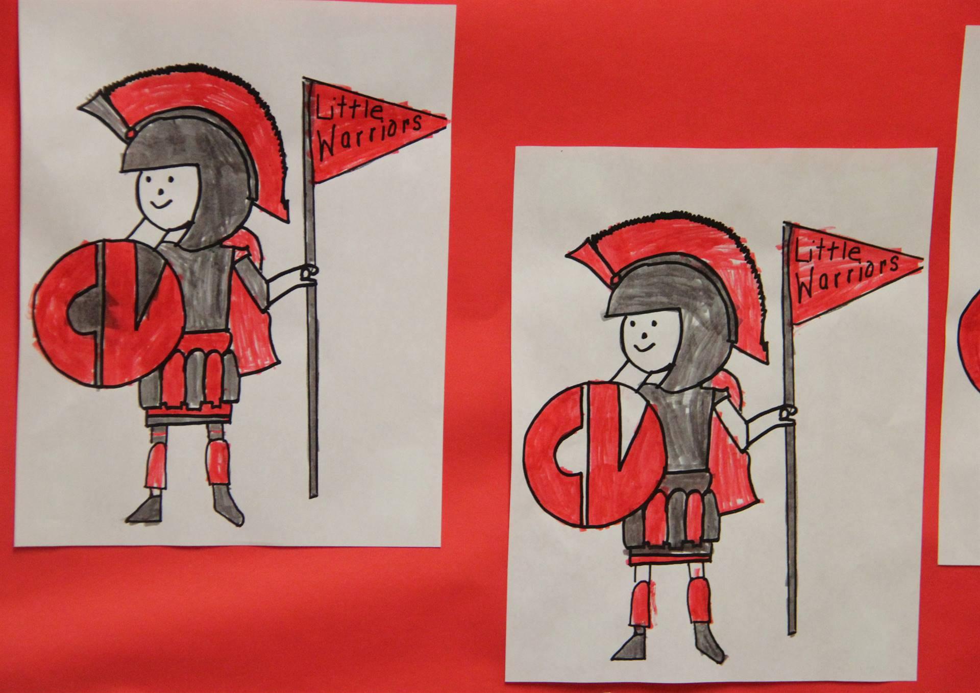 little warrior drawings