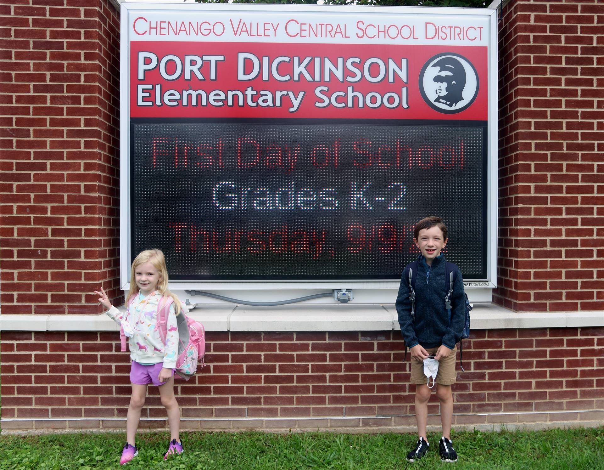 Port Dickinson Elementary First Day of School 3